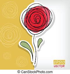 floral, roses, résumé, fond