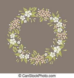 Floral round embroidery frame.