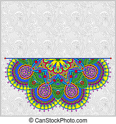 floral round pattern in ukrainian oriental ethnic style for...
