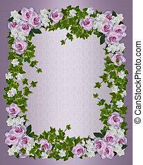 floral, rozen, grens, gardenias