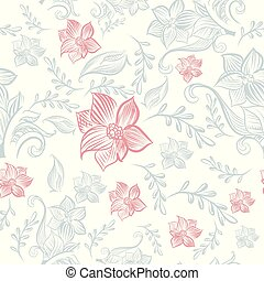 Floral rustic pattern, vector design.eps - Floral rustic...
