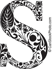 Floral initial capital letter S