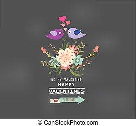 floral, saint-valentin, romantique