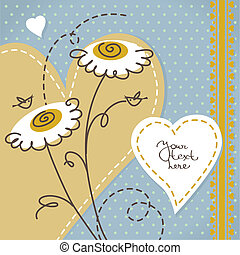 floral, scrapbook, fundo