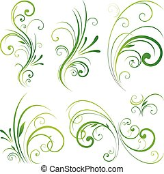 Floral scroll ornament