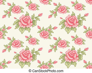 floral, seamless, achtergrond