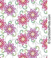 floral, -, seamless, achtergrond