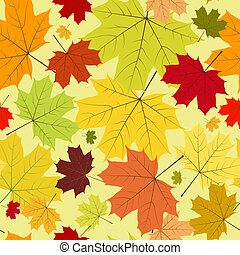Floral seamless autumn pattern (vec