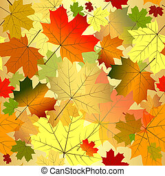 Floral seamless autumn pattern (vector EPS 10) - Floral...