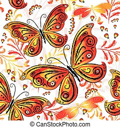 Floral seamless autumn pattern