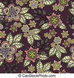 Floral seamless background burgundy