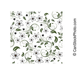 floral seamless background - Seamless vector floral...