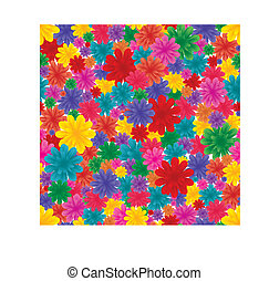 Floral seamless background, part 6. Vector illustration