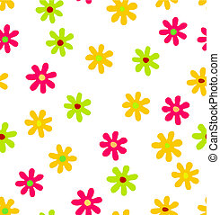 Seamless background with colored flowers