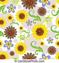 Floral seamless  background (vector)