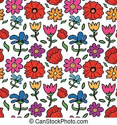 floral, seamless, bonimenter