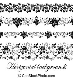 Floral seamless border