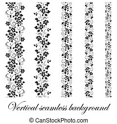 Floral seamless border