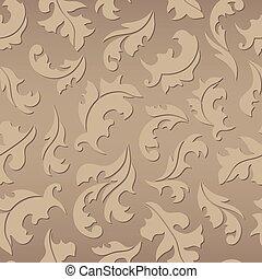 Floral seamless brown pattern