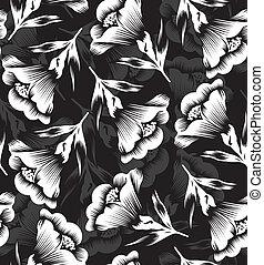 floral, seamless, desenhista, papel parede