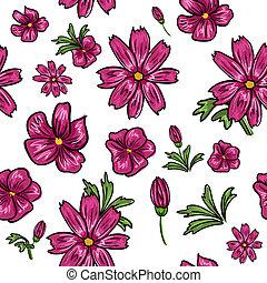 floral, seamless, fond