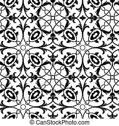 floral, seamless, fond, vector.