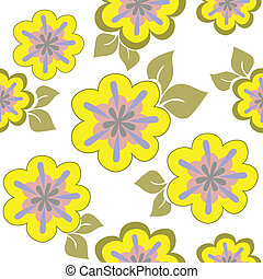 floral, seamless, gele