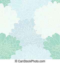 Floral seamless hand drawn vector background.