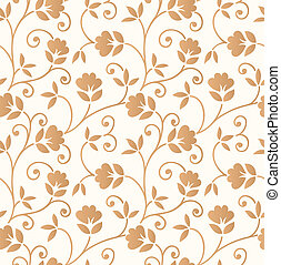 Floral seamless invitation card background