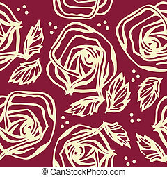 floral, seamless, ornamento