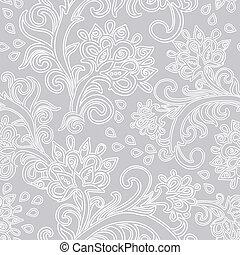 floral, seamless, padrão