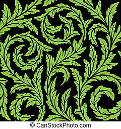 floral, seamless, padrão, vetorial