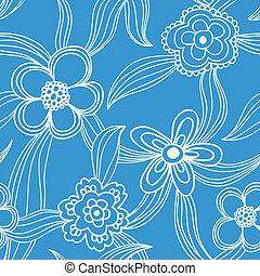 floral, seamless, patrón