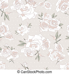 Floral seamless pattern. Background with roses.