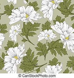Floral seamless pattern - daisy