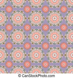 Floral seamless pattern in pastel colors.