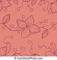 Floral seamless pattern in retro colors