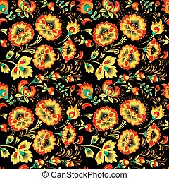 Floral seamless pattern in slavic