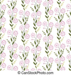 Floral seamless pattern made of stylized flowers