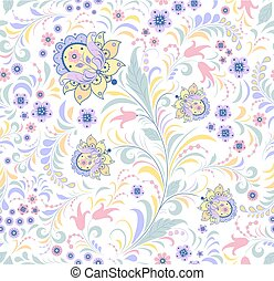 floral seamless pattern on white background.