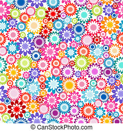 Floral seamless pattern on white background