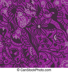 Floral seamless pattern purple colors design