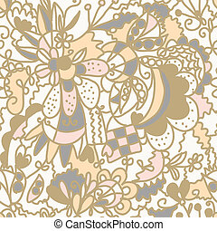 Floral seamless pattern romantic pastel design