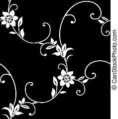 Seamless floral pattern vector illustration element for design