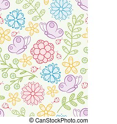 floral, seamless, pattern.