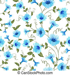 Floral seamless pattern for textile fabric. Vector...