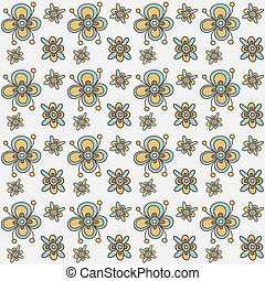 Floral seamless pattern. Vector.