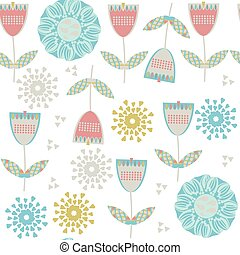 Floral seamless pattern, vector. It is located in swatch menu,   abstract design  illustration. Cute image