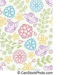 floral, seamless, pattern.