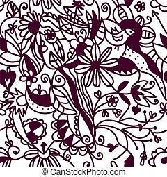 Floral seamless pattern vintage design